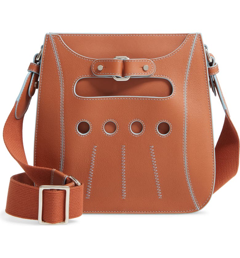 PERRIN Cabbie Leather Crossbody Bag, Main, color, 210
