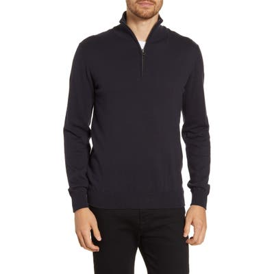 French Connection Regular Fit Half Zip Sweater, Green