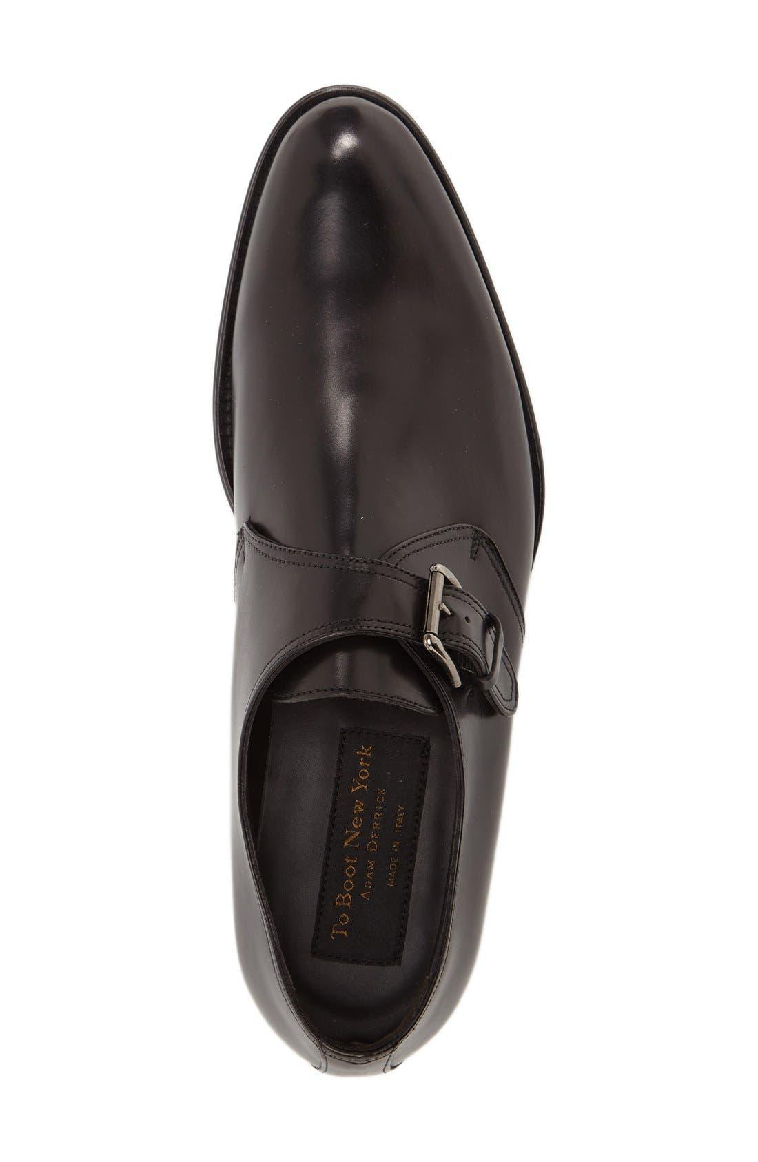 ,                             Emmett Monk Strap Shoe,                             Alternate thumbnail 3, color,                             BLACK LEATHER