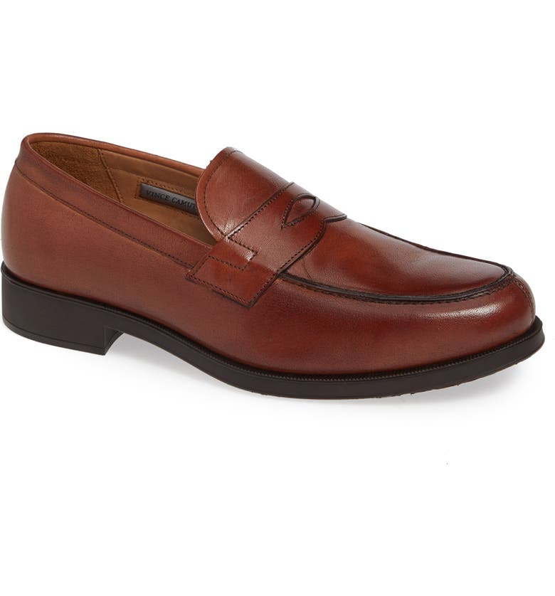 VINCE CAMUTO Nait Penny Loafer, Main, color, COGNAC LEATHER