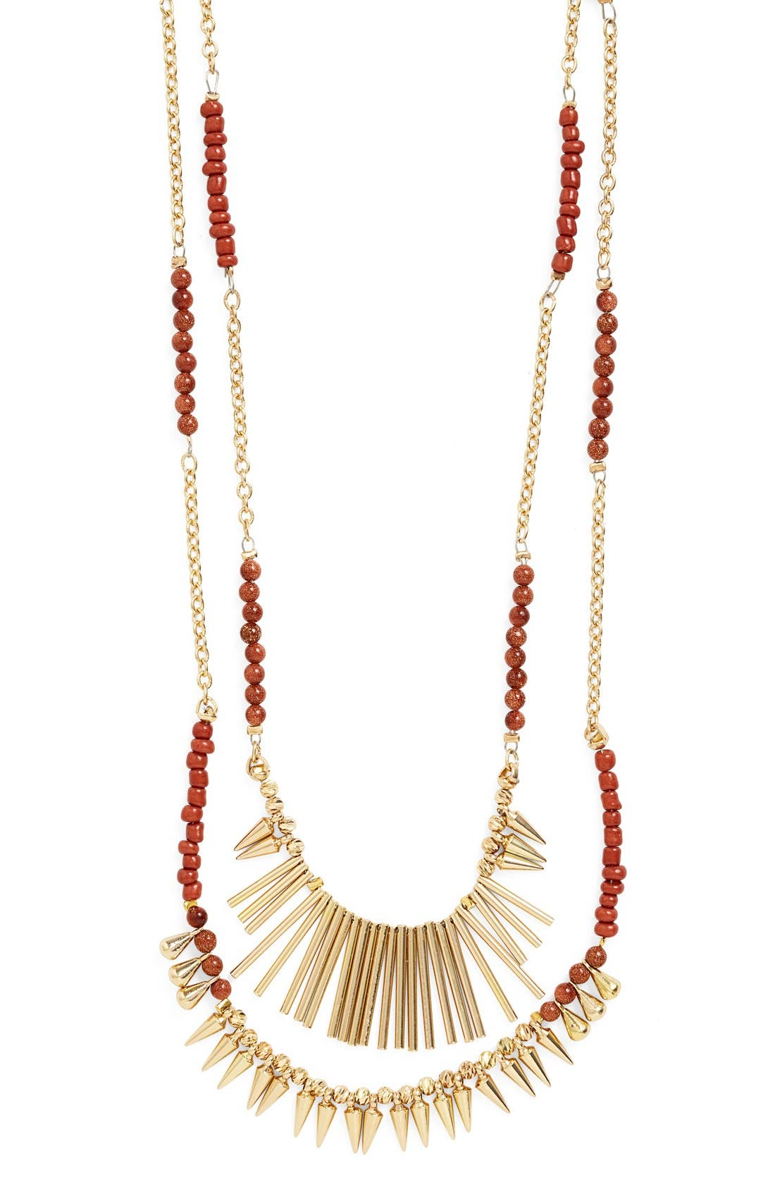 ,                             Beaded Fringed Two-Row Necklace,                             Alternate thumbnail 2, color,                             200