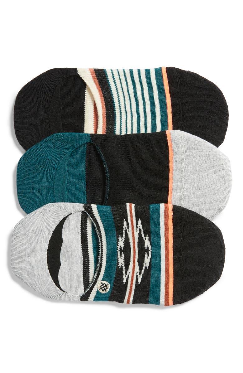 STANCE Savannah 3-Pack No-Show Socks, Main, color, MULTI