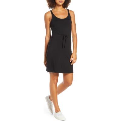 Bb Dakota Hit The Streets Drawstring Waist Jersey Dress, Black