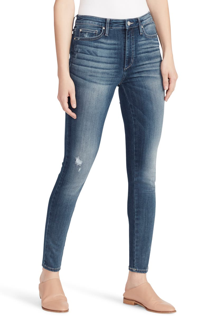 ELLA MOSS Distressed High Waist Skinny Jeans, Main, color, PIPER