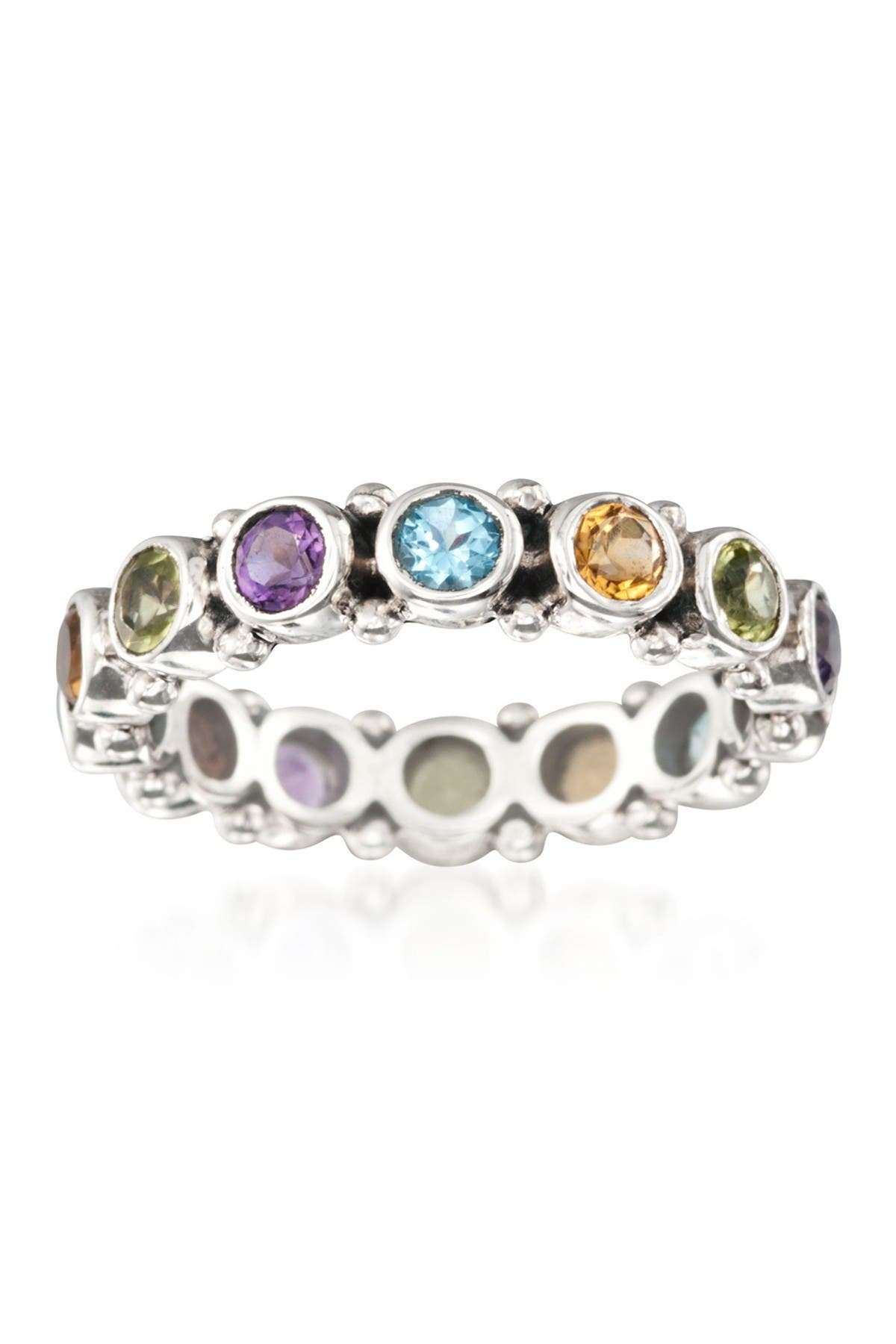 Image of Samuel B Jewelry Sterling Silver Multi Gemstone Eternity Band