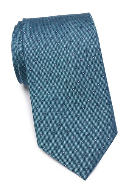 Image of Calvin Klein Mini Oxford Square Silk Tie