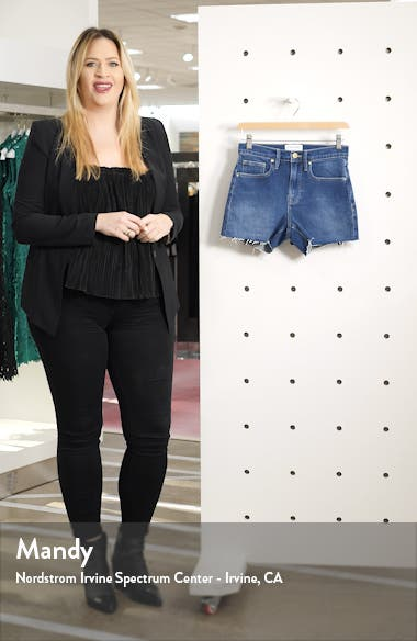 Le Brigette High Waist Denim Shorts, sales video thumbnail