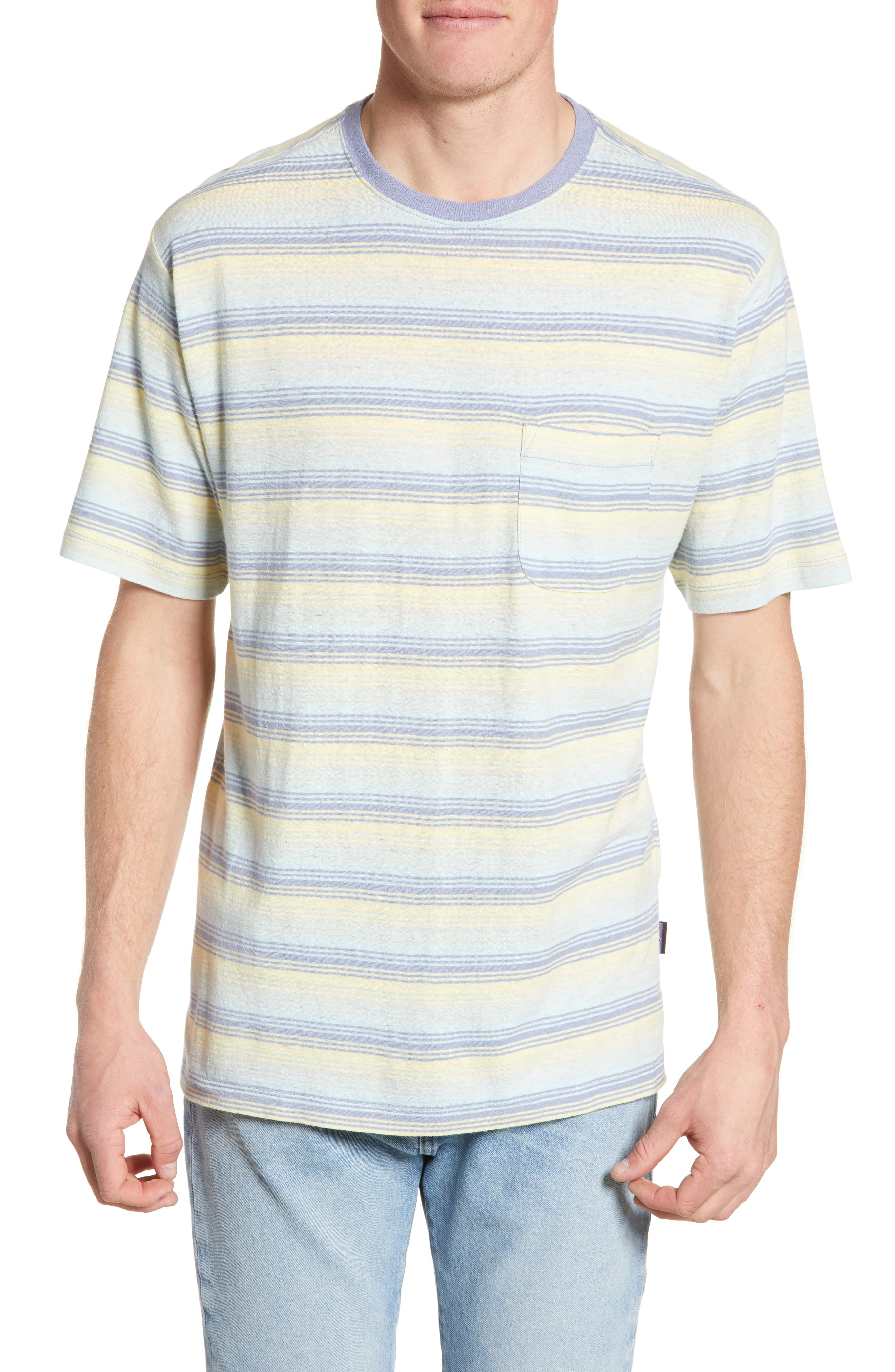 Patagonia Trail Harbor Stripe Pocket T-Shirt, Purple