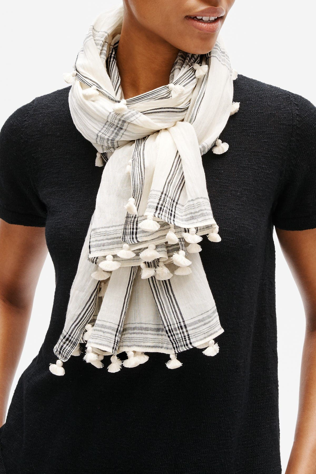 Image of Eileen Fisher Textured Organic Cotton Scarf