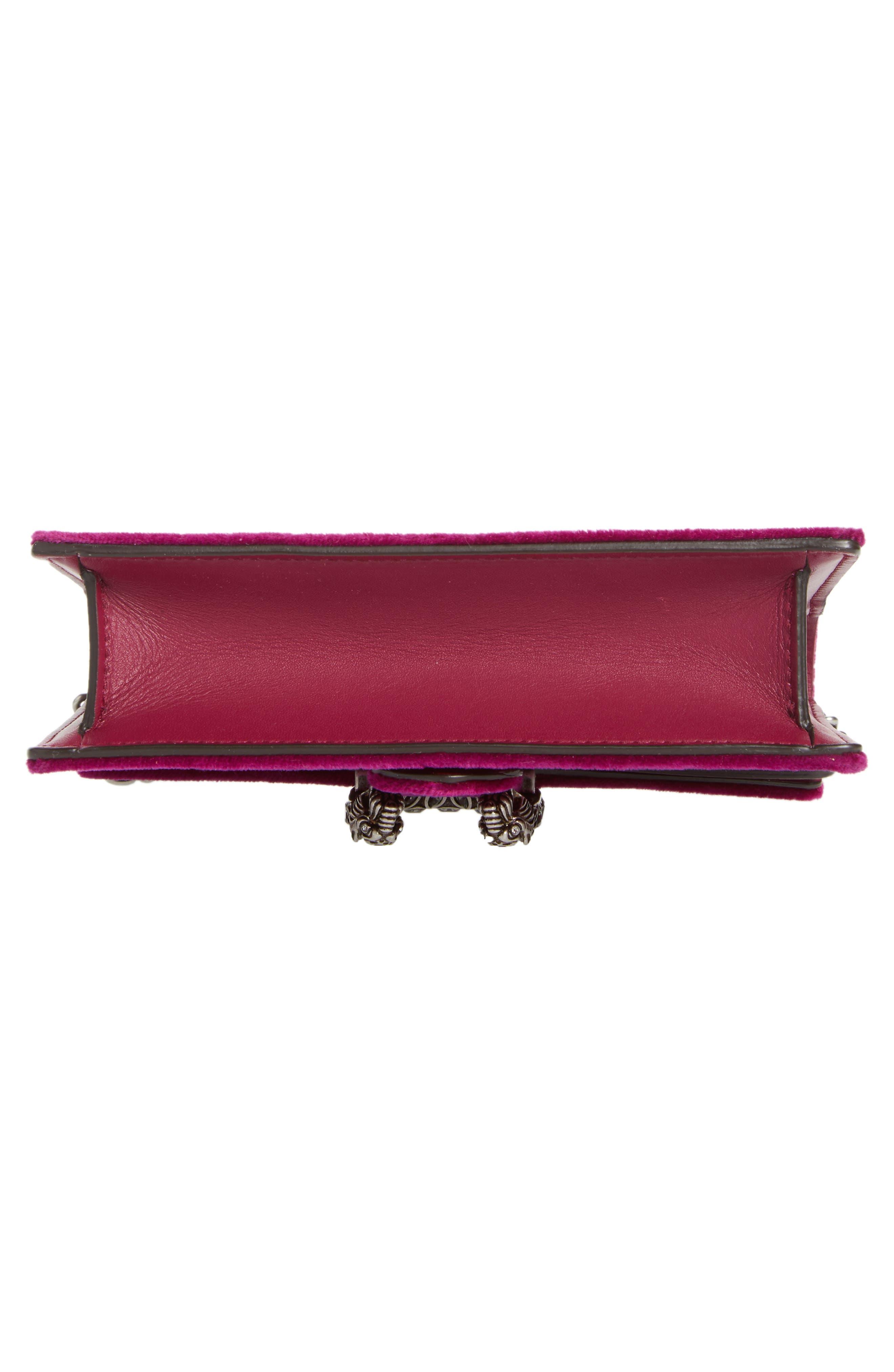 ,                             Super Mini Dionysus Velvet Shoulder Bag,                             Alternate thumbnail 18, color,                             560