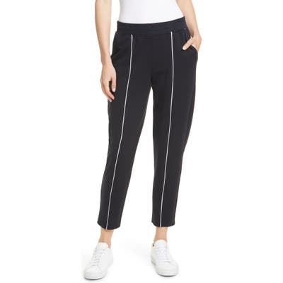 Atm Anthony Thomas Melillo French Terry Crop Sweatpants, Black