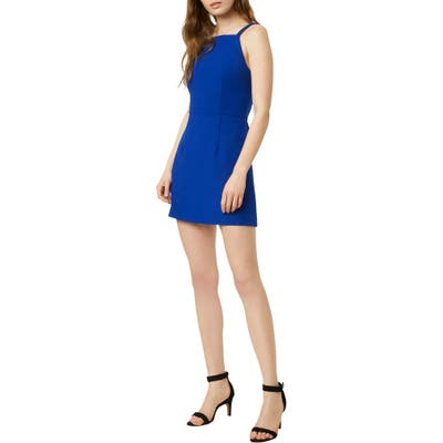 French Connection Whisper Light Sheath Minidress, Blue