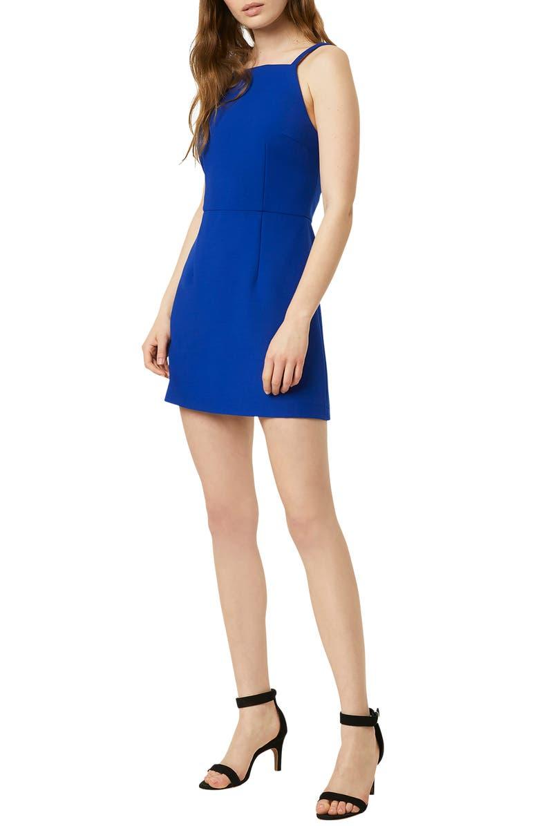 FRENCH CONNECTION Whisper Light Sheath Minidress, Main, color, FRESCO BLUE