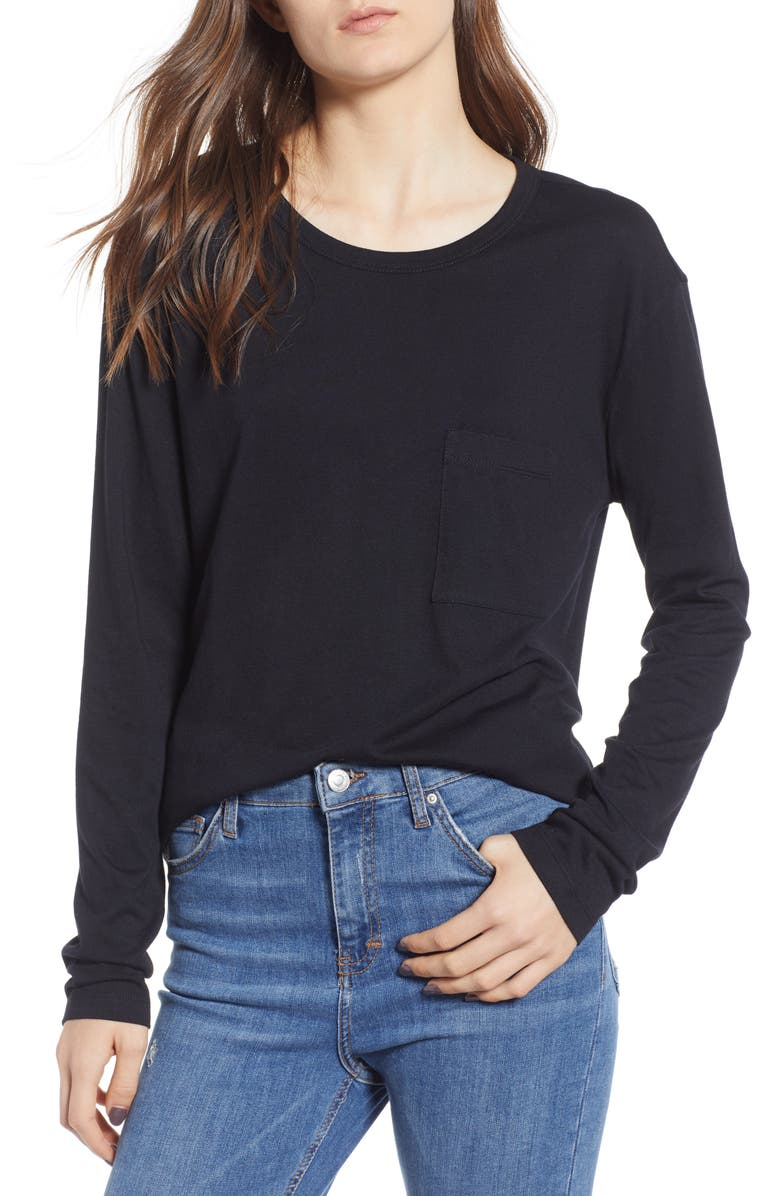 BP. Slouch Pocket Tee, Main, color, 001
