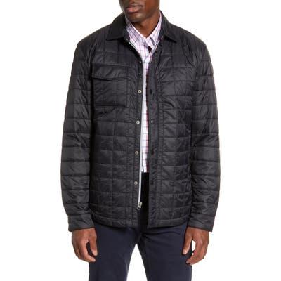 Big & Tall Cutter & Buck Rainier Primaloft Insulated Shirt Jacket, Black