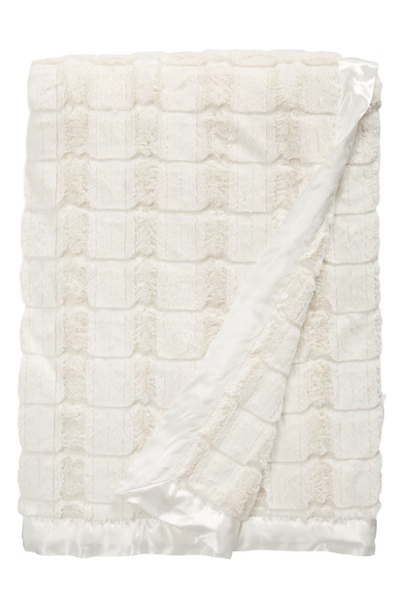 GIRAFFE AT HOME Luxe Waterfall Throw Blanket, Main, color, CREAM