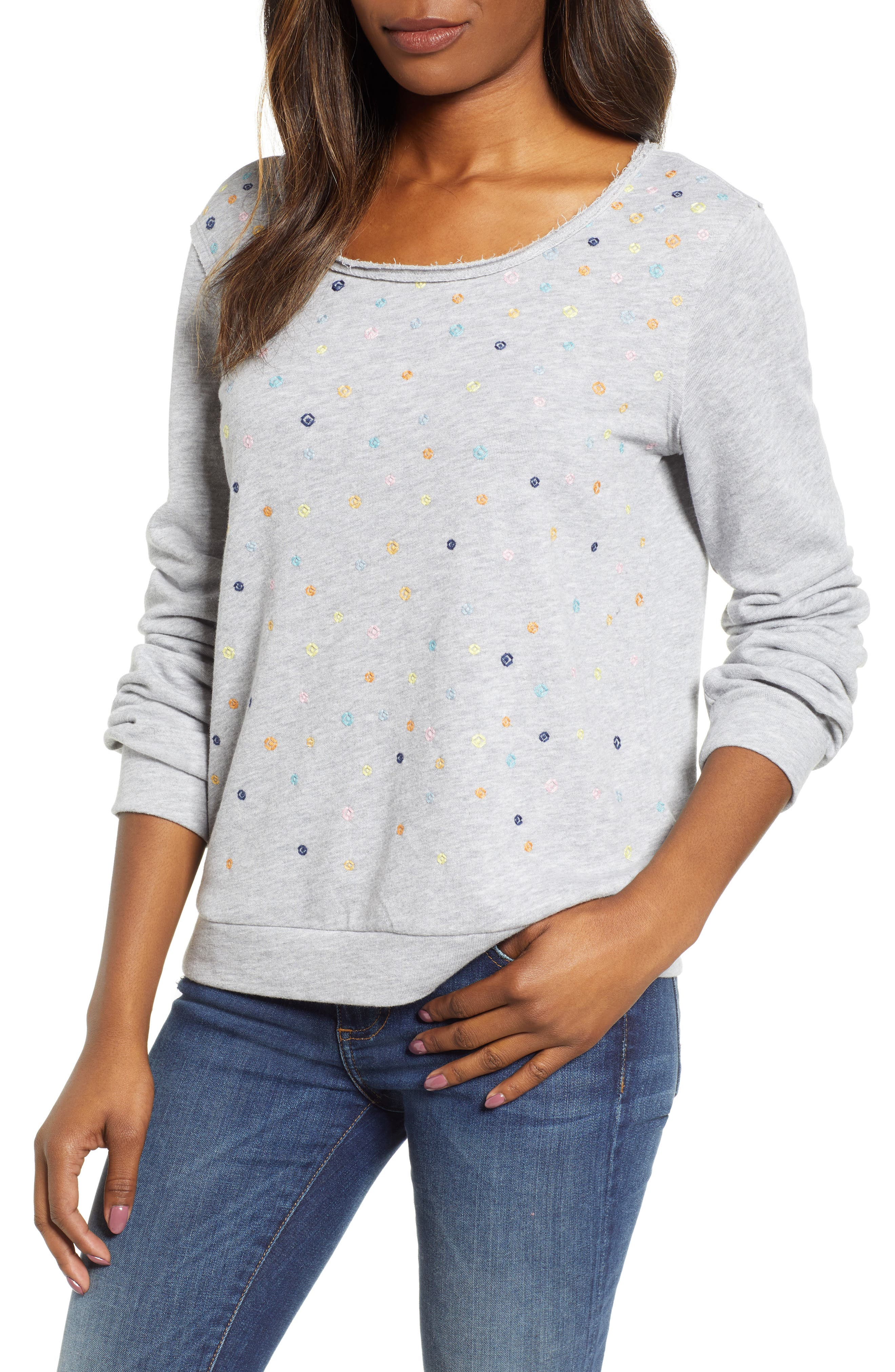 ,                             Embroidered Sweatshirt,                             Main thumbnail 1, color,                             030