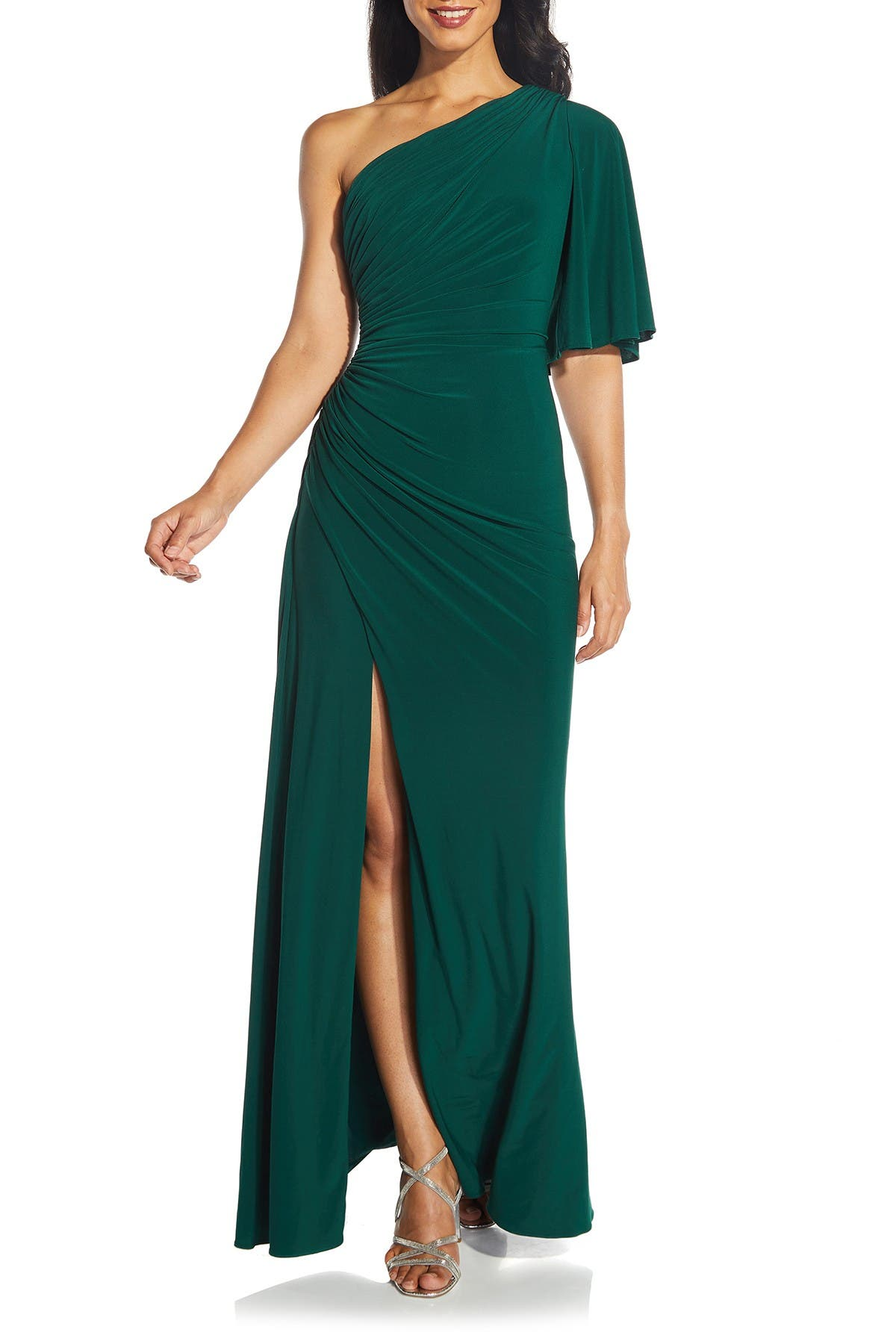 Image of Adrianna Papell One-Shoulder Jersey Dress