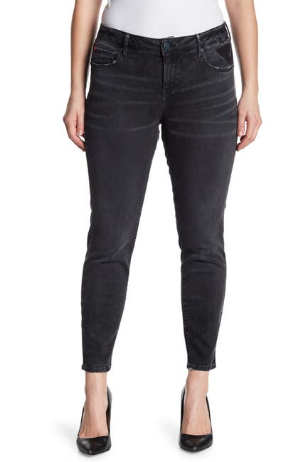 Image of SLINK JEANS Whiskered Ankle Crop Jeggings