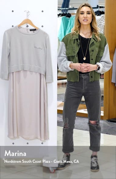 Crepe Dress with Embellished Cashmere Sweater, sales video thumbnail