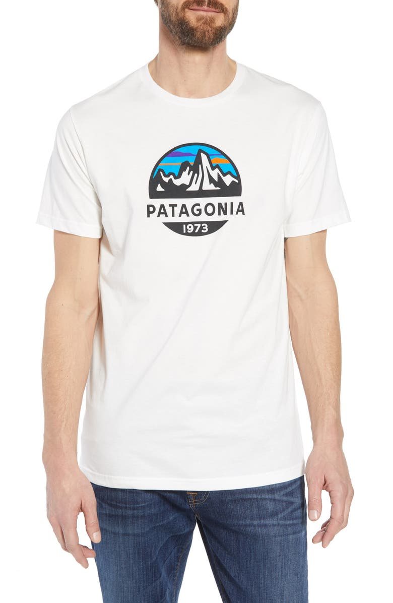 PATAGONIA Fitz Roy Scope Crewneck T-Shirt, Main, color, WHITE