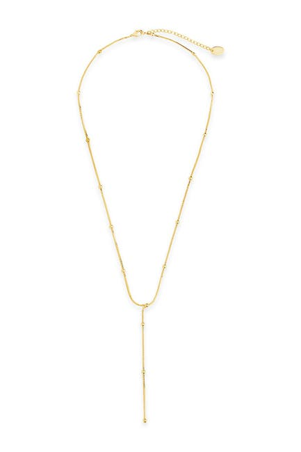 Image of Sterling Forever 14K Gold Plated Brass Venetian & Beaded Y-Drop Necklace