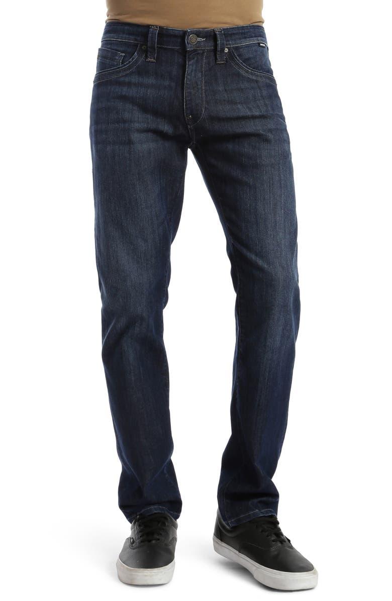 MAVI JEANS Zach Straight Fit Jeans, Main, color, ZACH INDIGO BRUSHED MAUI