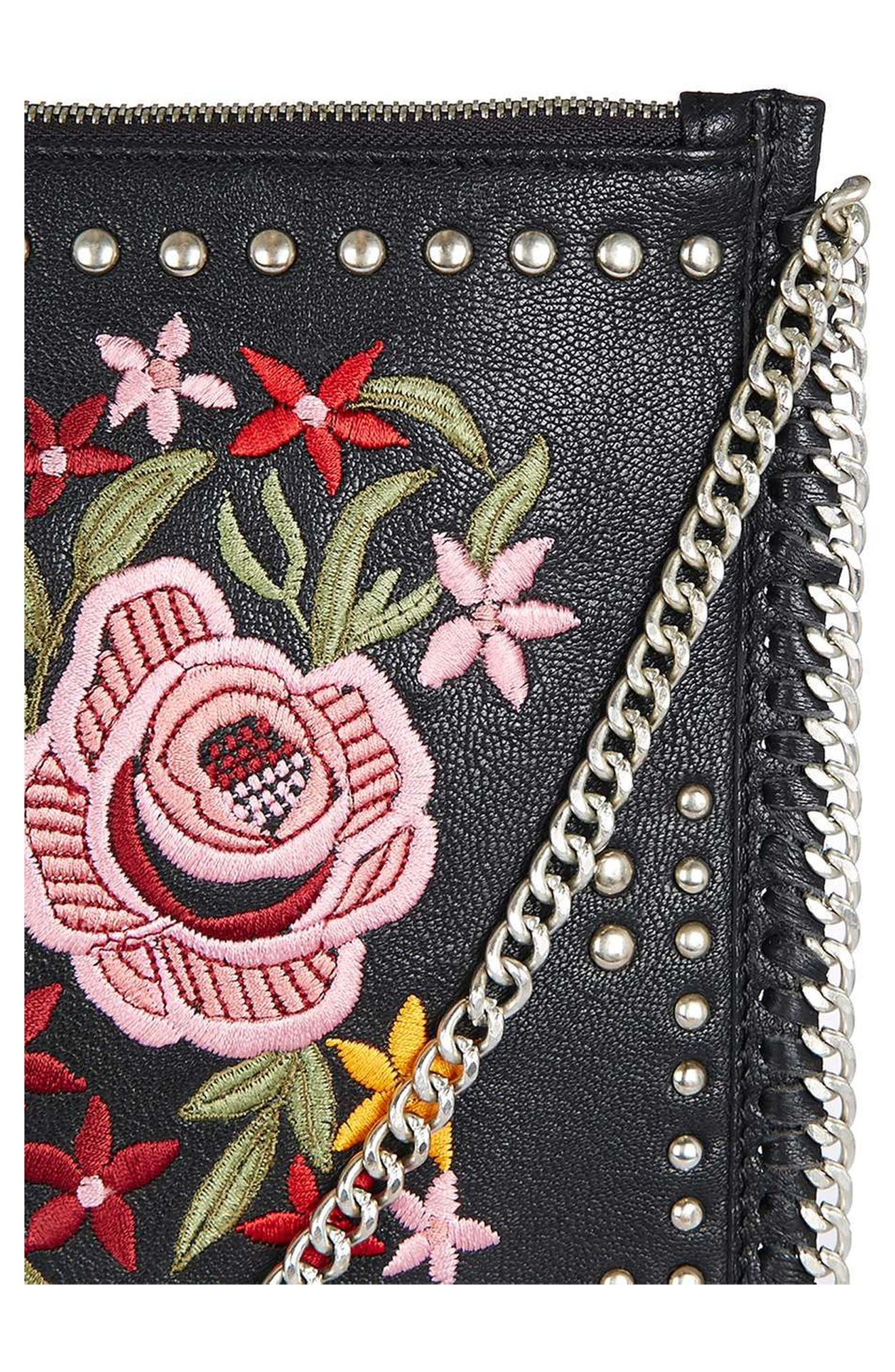 ,                             Oto Embroidered Crossbody,                             Alternate thumbnail 4, color,                             001