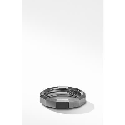 David Yurman Faceted Band Ring In Titanium