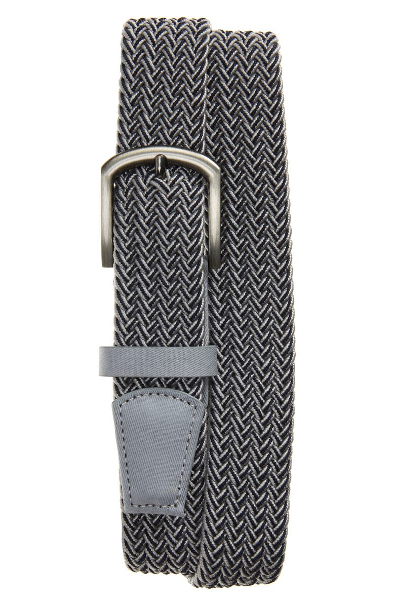 CUATER BY TRAVIS MATTHEW Central Woven Belt, Main, color, LIGHT GREY