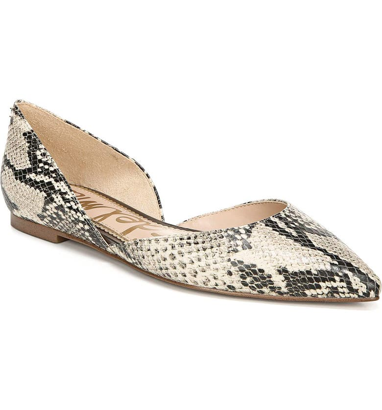 SAM EDELMAN Rodney Pointy Toe d'Orsay Flat, Main, color, BEACH MULTI LEATHER