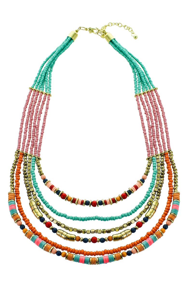 PANACEA Multistrand Seed Bead Necklace, Main, color, 400