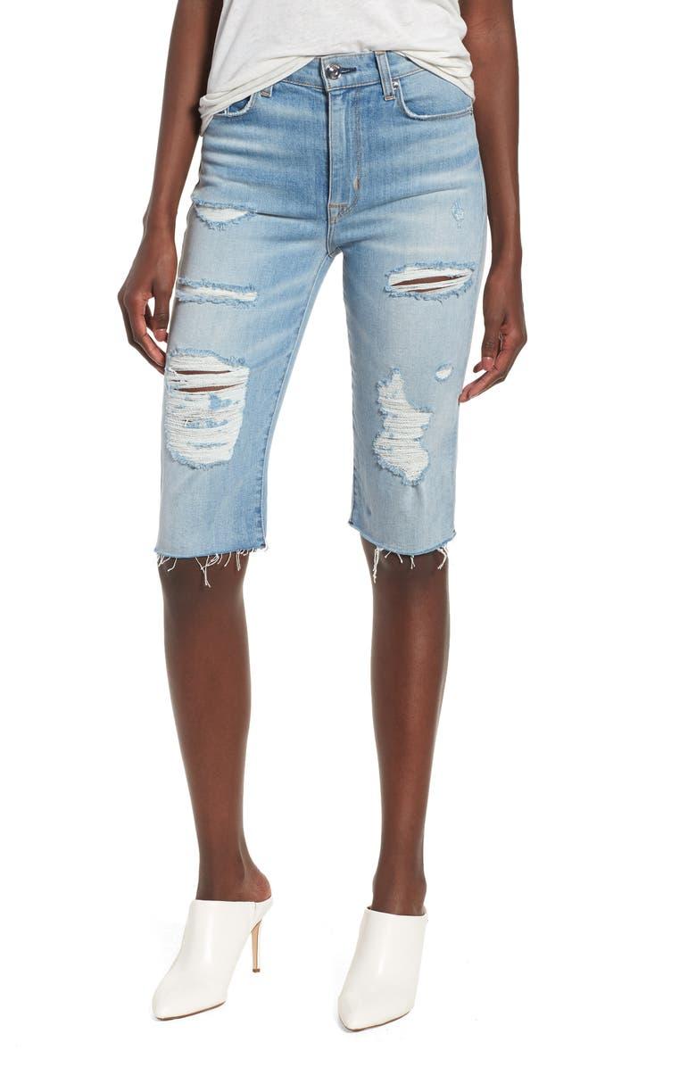 HUDSON JEANS Zoeey High Waist Cutoff Boyfriend Shorts, Main, color, 420