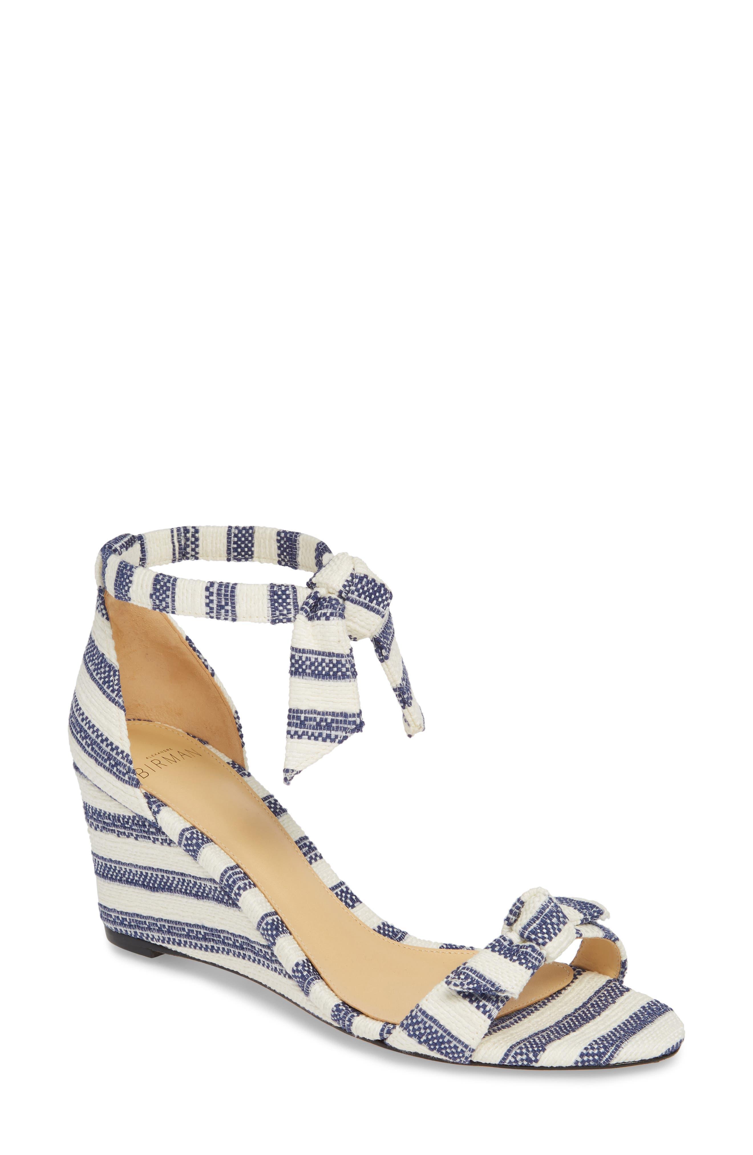 Alexandre Birman Clarita Wedge Sandal- Blue