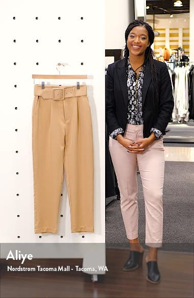 Belted Crop Trousers, sales video thumbnail