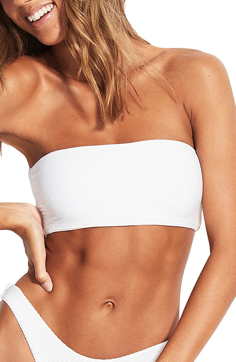 SEAFOLLY Essential Tube Bikini Top, Main, color, ESSENTIALS WHITE