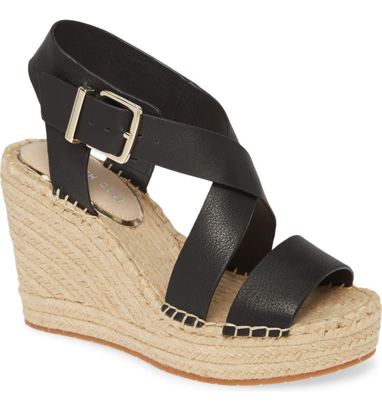 KENNETH COLE NEW YORK Olivia Espadrille Wedge Platform Sandal, Main, color, 001