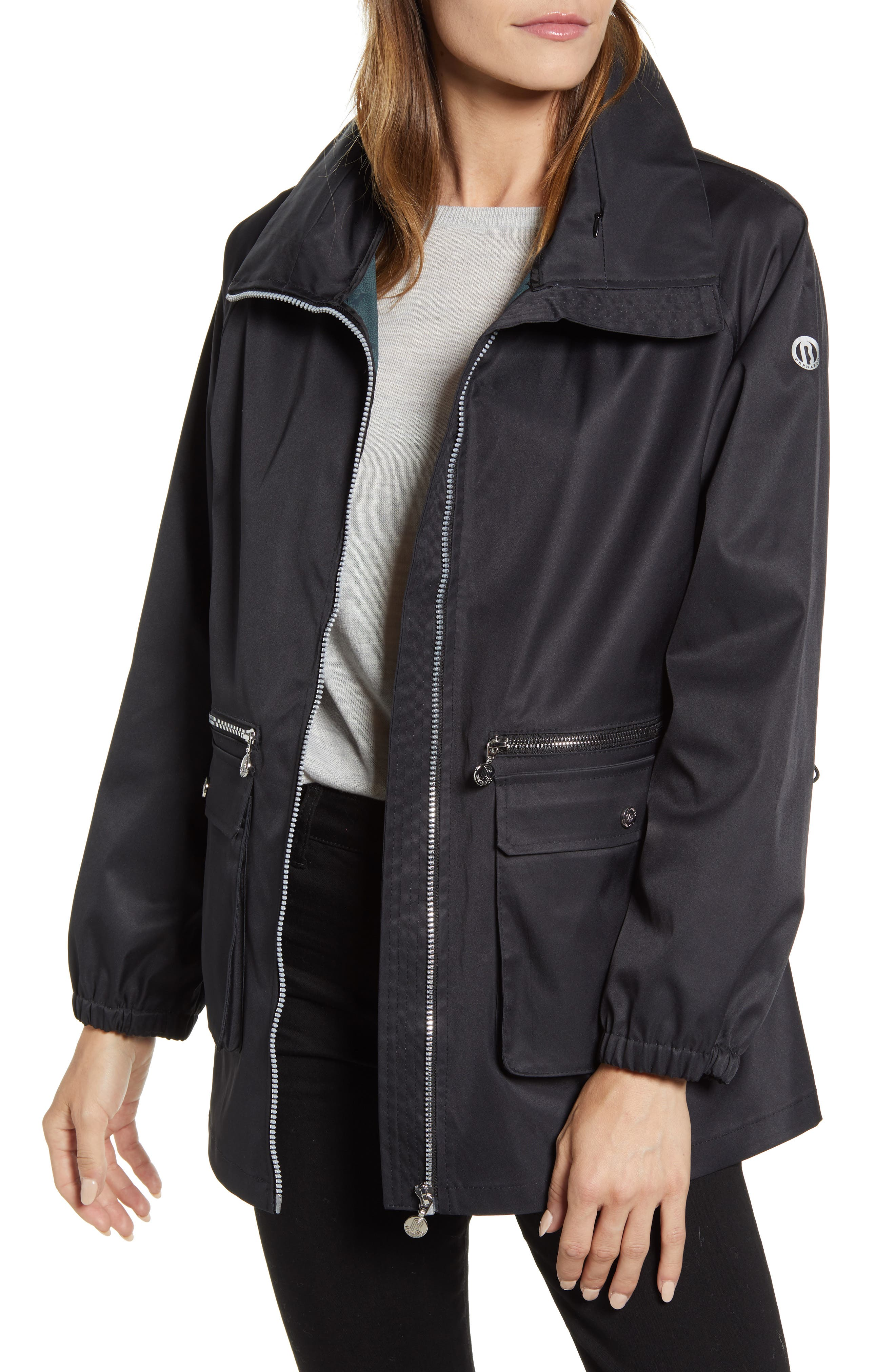 Short Water Resistant Raincoat