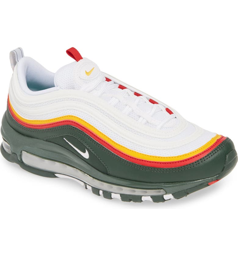 NIKE Air Max 97 SE Sneaker, Main, color, WHITE/ YELLOW/ EVERGREEN