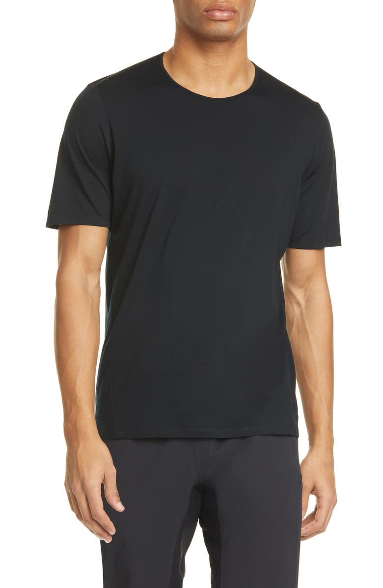VEILANCE Frame Merino Wool Blend T-Shirt, Main, color, BLACK