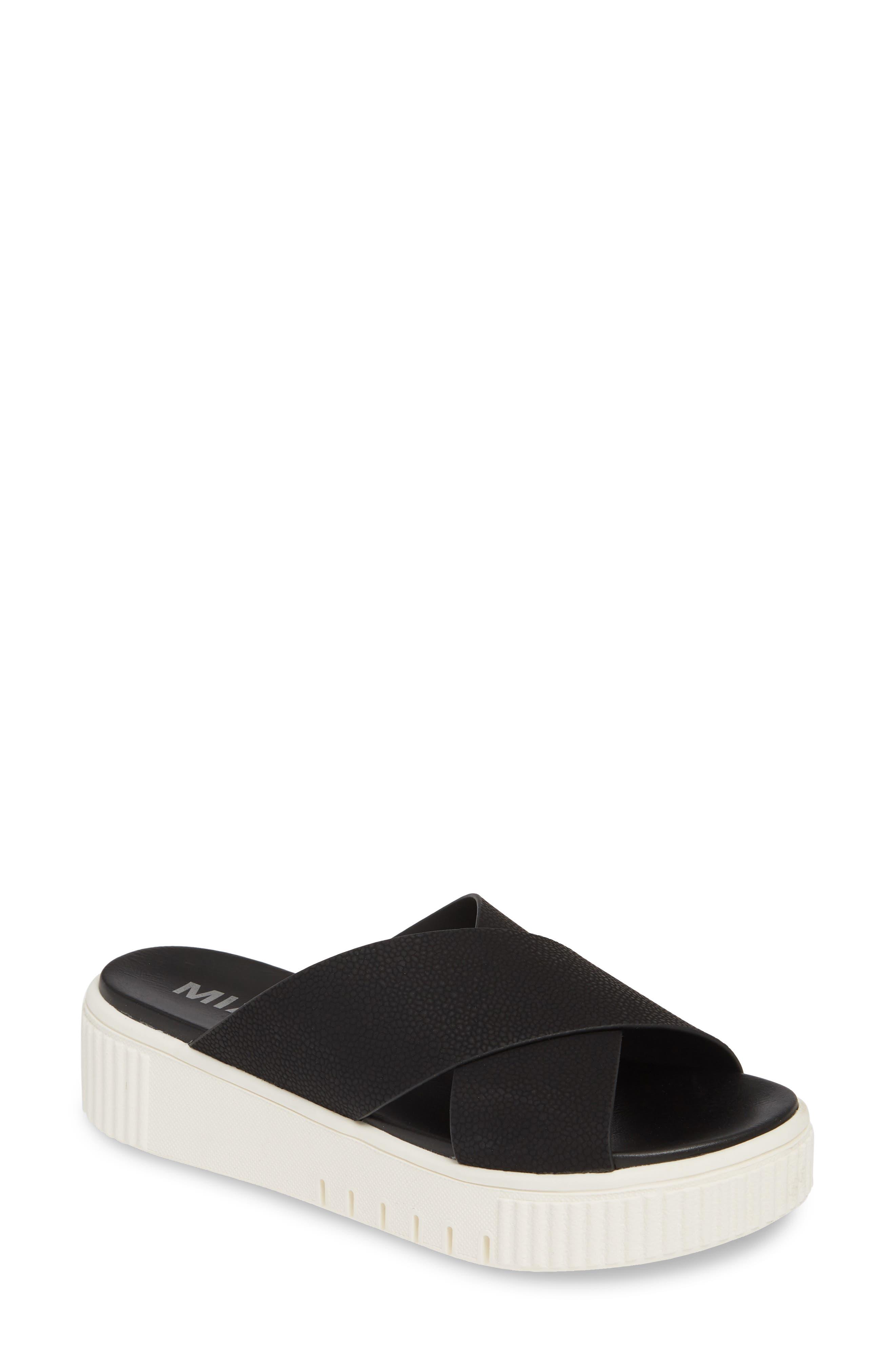 Mia Lia Platform Sandal- Black