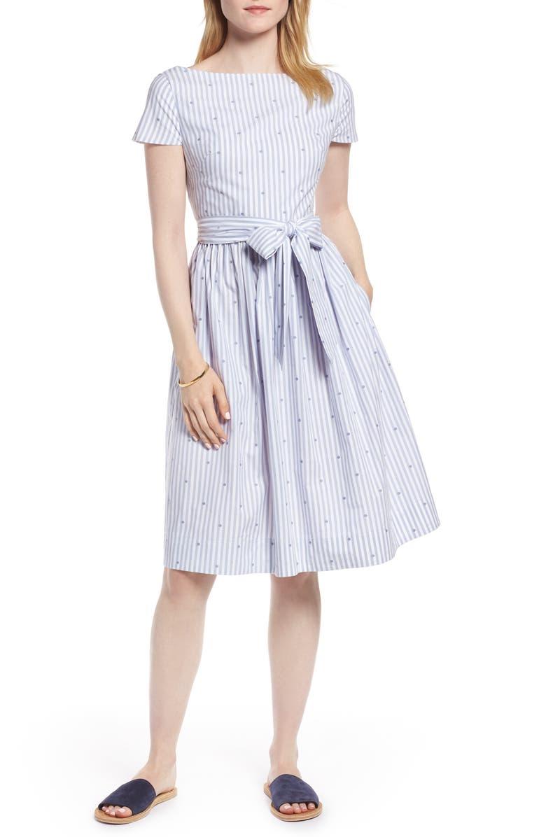 1901 Stripe & Dot Cotton Dress, Main, color, 400