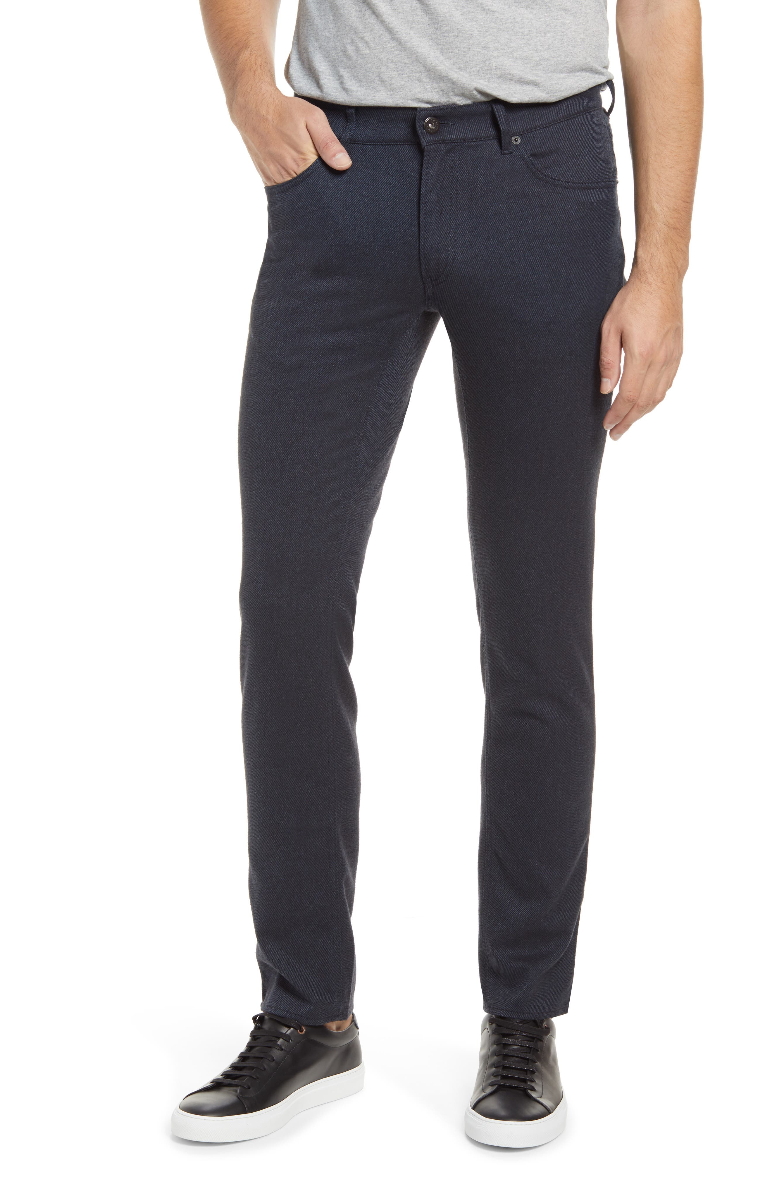 Soft, dark twill gives you a fresh alternative to your everyday denim in sporty five-pocket pants made with straight legs and lots of comfortable stretch. Style Name: Brax Chuck Five-Pocket Pants. Style Number: 6103890. Available in stores.