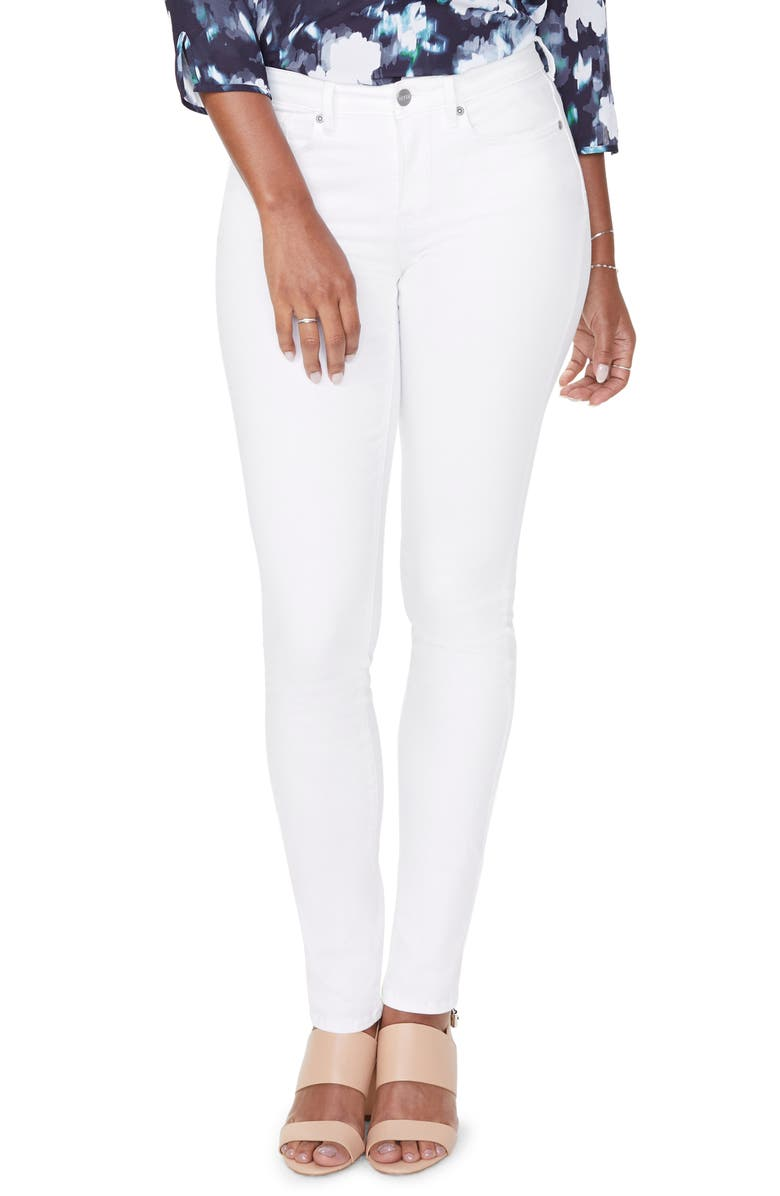 NYDJ Alina High Waist Stretch Skinny Jeans, Main, color, OPTIC WHITE