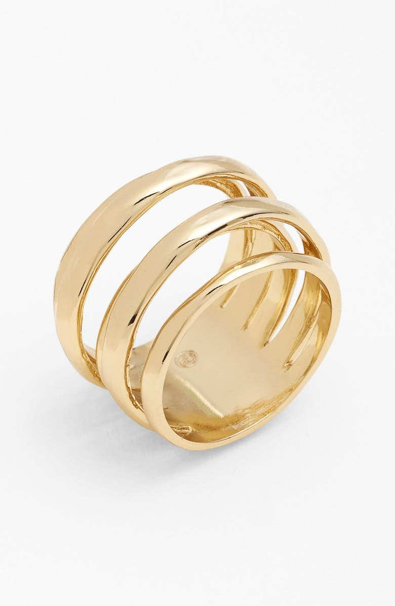 ALEXIS BITTAR 'Miss Havisham - Kinetic Gold' Stack Ring, Main, color, GOLD