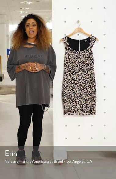 Animal Print Scuba Sheath Dress, sales video thumbnail