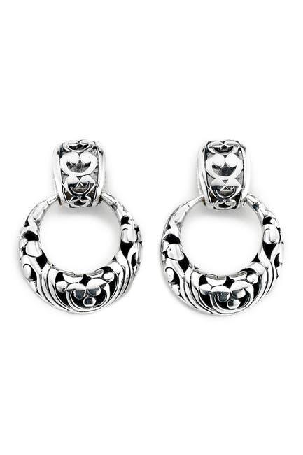 Image of Samuel B Jewelry Sterling Silver Round Drop Earrings