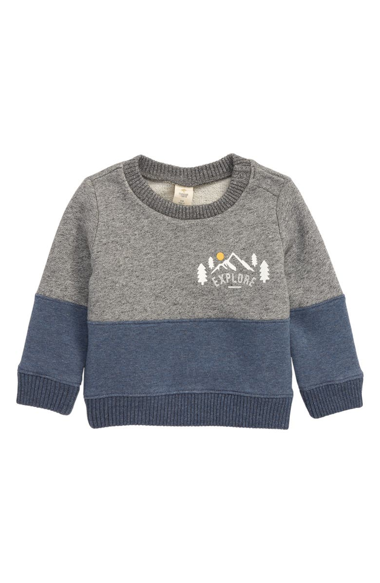 TUCKER + TATE Explore Colorblock Sweatshirt, Main, color, GREY GALACTIC EXPLORE