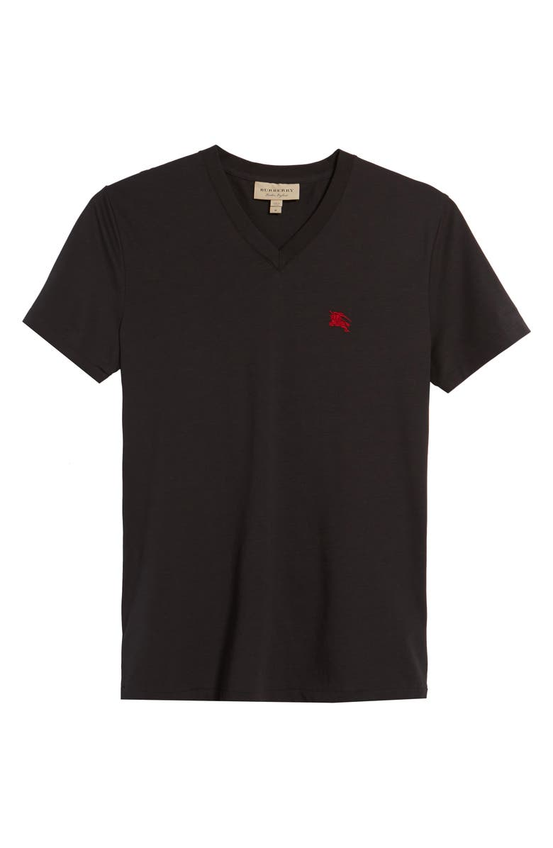 BURBERRY Lindon Cotton T-Shirt, Main, color, 001