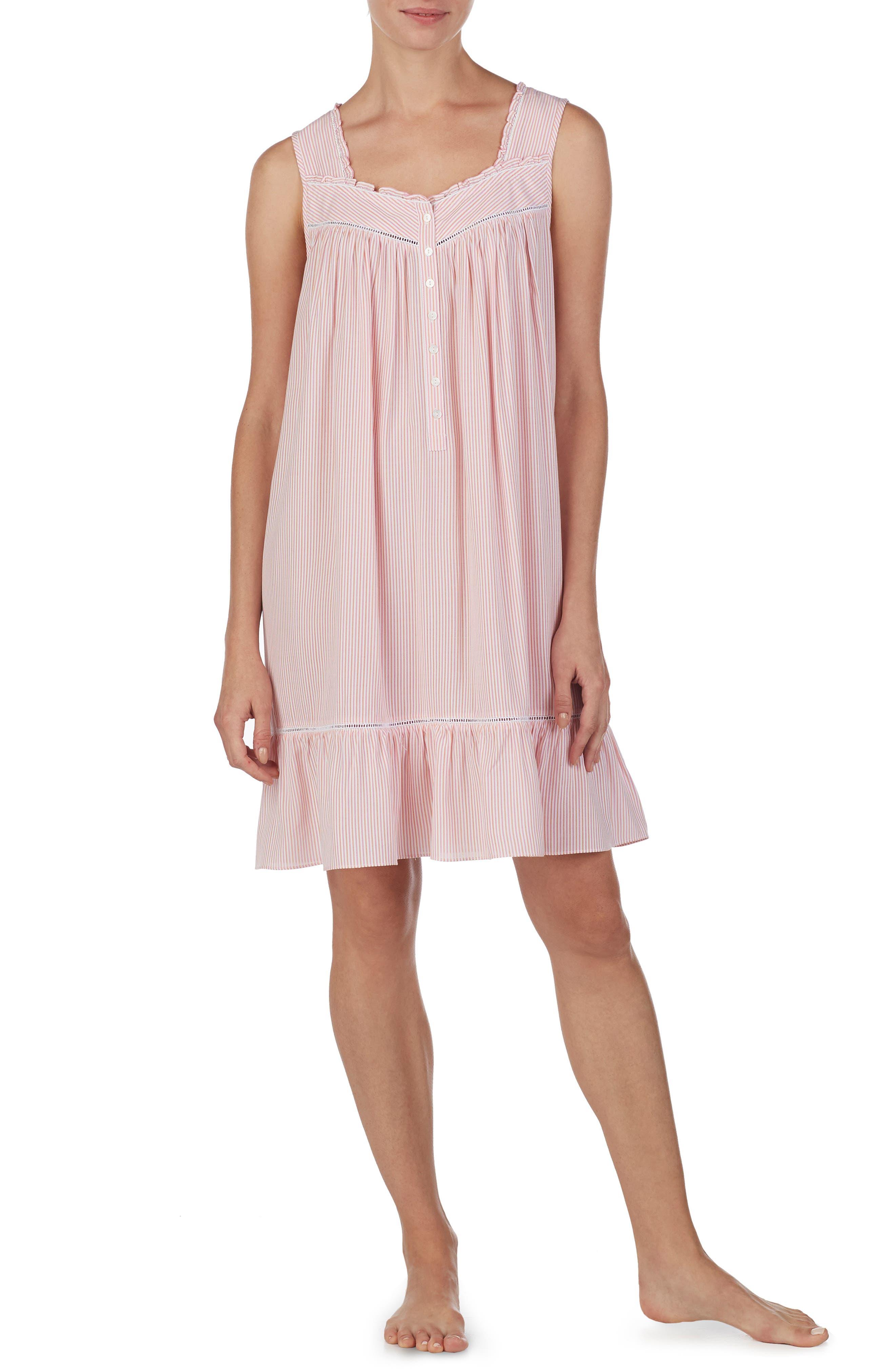 Plus Size Eileen West Short Nightgown, Pink